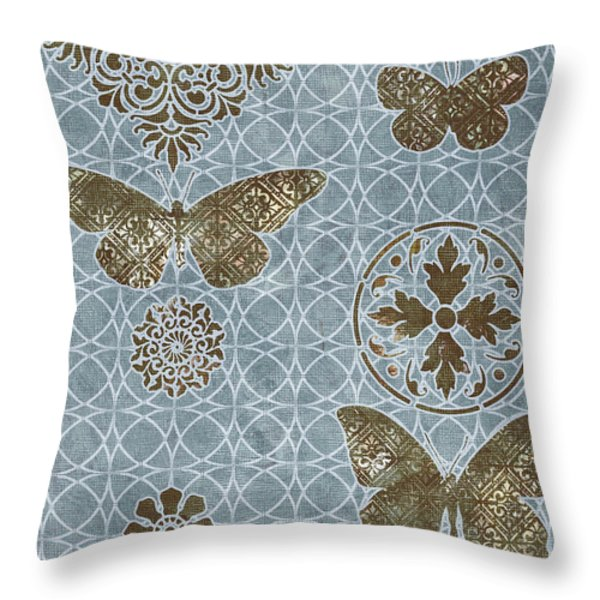 Butterfly Deco 1 Throw Pillow by JQ Licensing