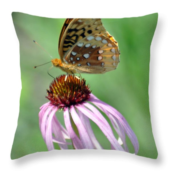 Butterfly In The Wind Throw Pillow by Marty Koch