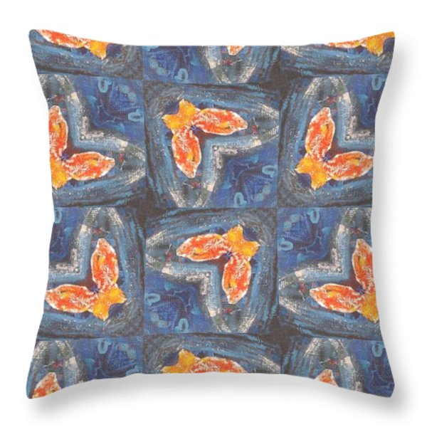 Butterfly Love Throw Pillow by Maria Watt