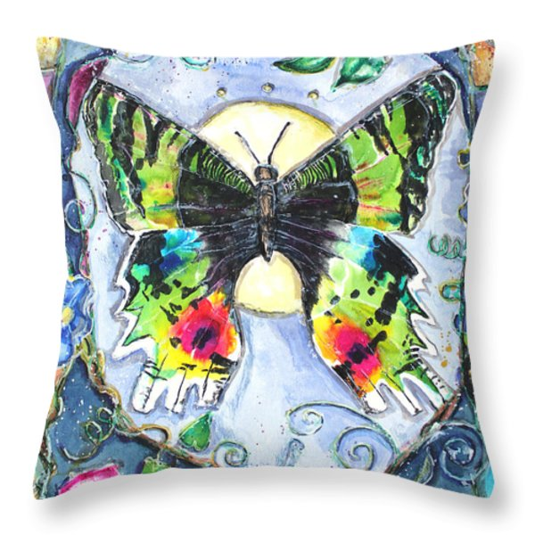 Butterfly Throw Pillow by Patricia Allingham Carlson