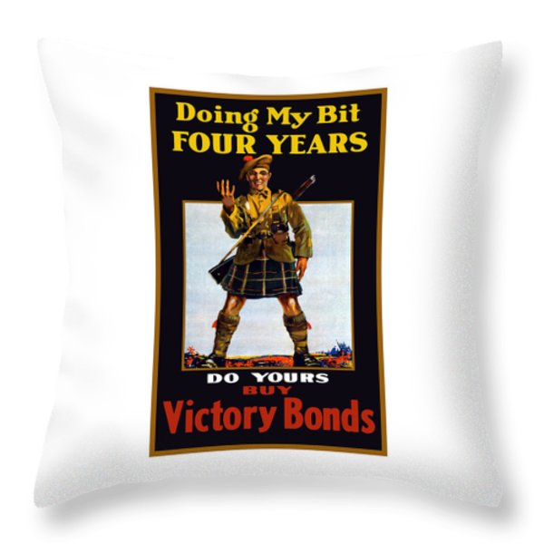 Buy Victory Bonds Throw Pillow by War Is Hell Store