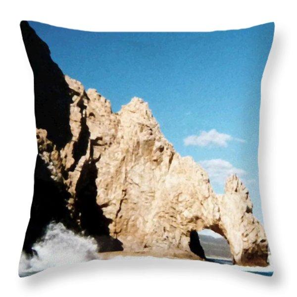 Cabo San Lucas Arch Throw Pillow by Will Borden