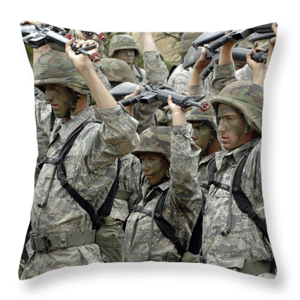 Cadets Prepare To Participate Throw Pillow by Stocktrek Images
