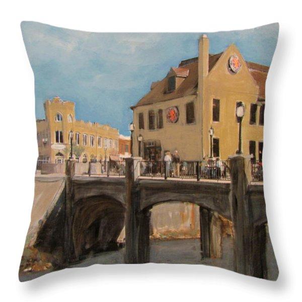 Cafe Hollander 1 Throw Pillow by Anita Burgermeister
