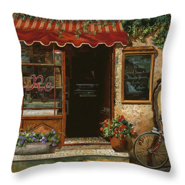 caffe Re Throw Pillow by Guido Borelli