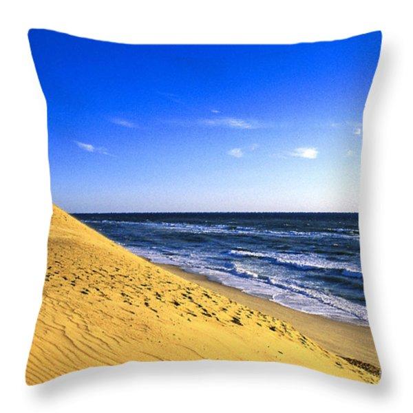 Cahoon Beach Throw Pillow by John Greim