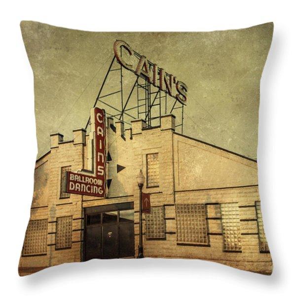 Cain's Ballroom Throw Pillow by Tamyra Ayles