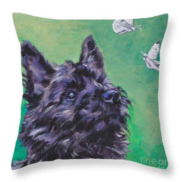 Cairn Terrier Throw Pillow by Lee Ann Shepard