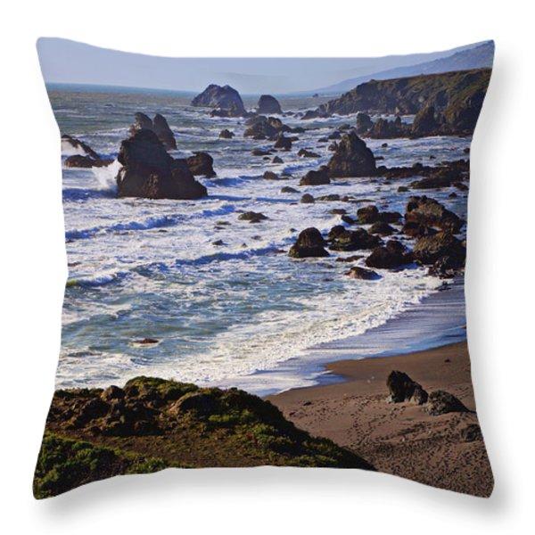 California coast Sonoma Throw Pillow by Garry Gay