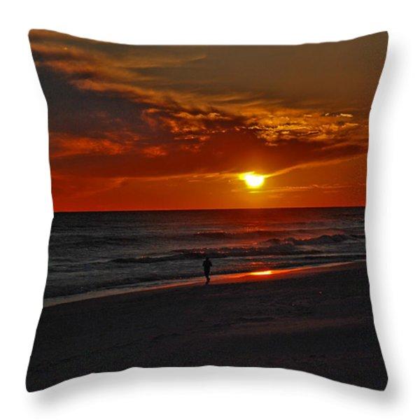 California Sun Throw Pillow by Susanne Van Hulst