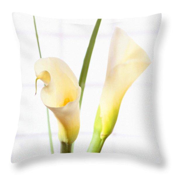 Calla Lily Throw Pillow by Mike McGlothlen