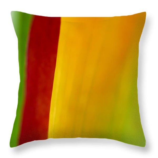 Calla Lily Throw Pillow by Silke Magino