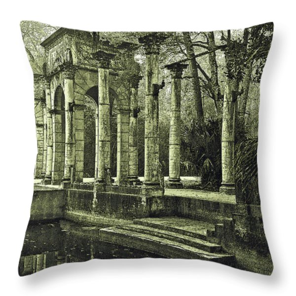 Calle Grande Ruins Throw Pillow by DigiArt Diaries by Vicky B Fuller