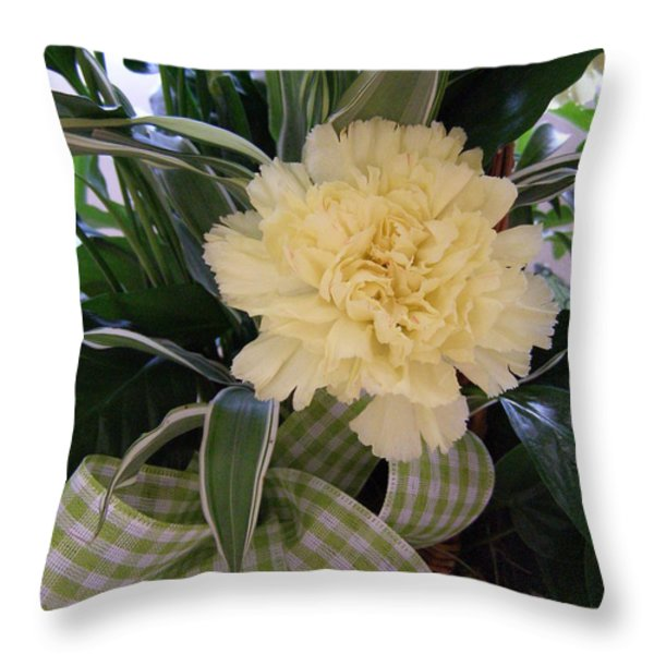 Calming Greens Throw Pillow by Sandi Floyd