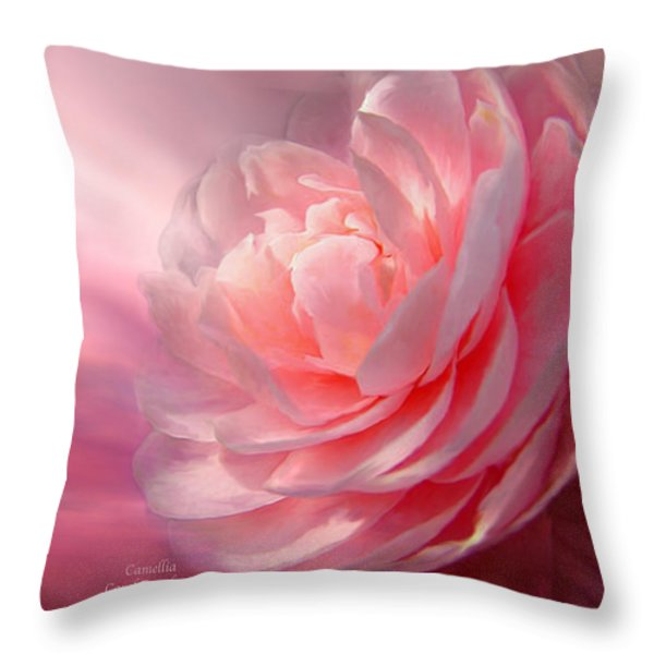 Camellia Throw Pillow by Carol Cavalaris