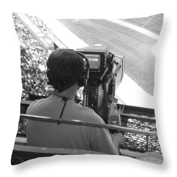 Camera's Man..... Throw Pillow by WaLdEmAr BoRrErO
