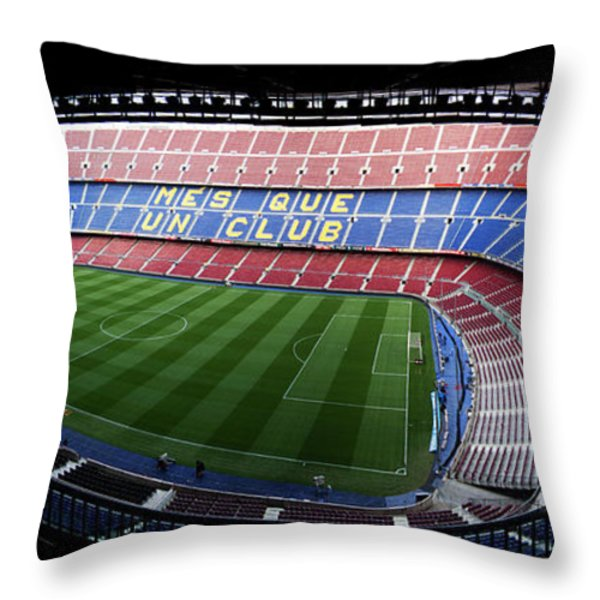 Camp Nou Throw Pillow by Agusti Pardo Rossello
