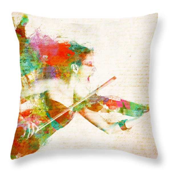 Can You Hear Me Now Throw Pillow by Nikki Marie Smith