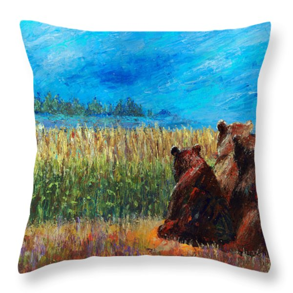 Can You See Whats Going On... Throw Pillow by Arline Wagner