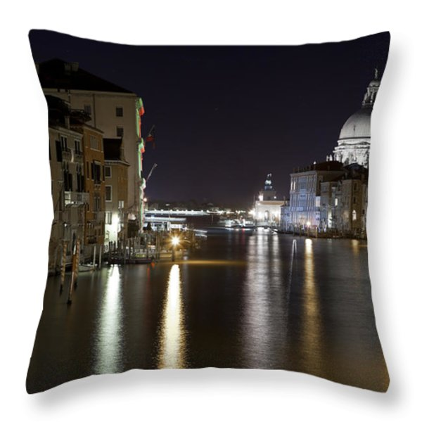 Canal Grande - Venice Throw Pillow by Joana Kruse