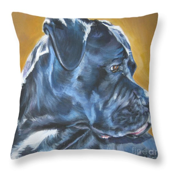 Cane Corso Throw Pillow by Lee Ann Shepard