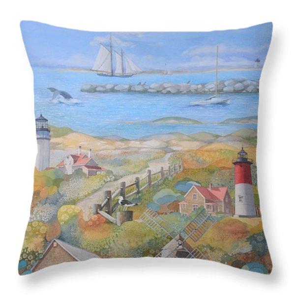 Cape Cod Throw Pillow by Ezartesa Art