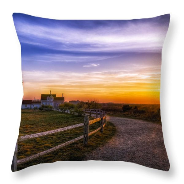 Cape Cod Light Throw Pillow by Mark Papke