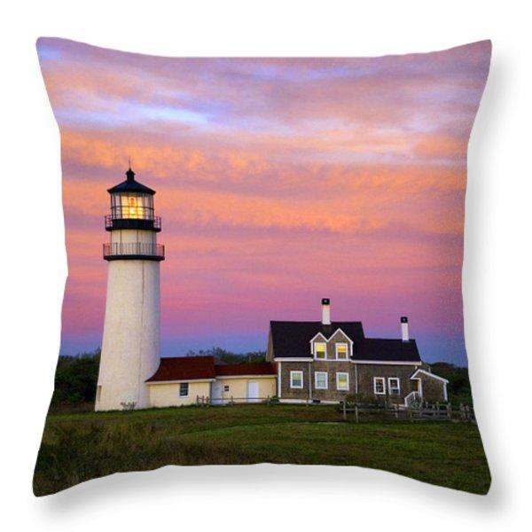 Cape Cod Light Truro Throw Pillow by John Greim