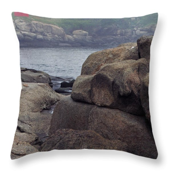 Cape Neddick Lighthouse York Maine Throw Pillow by Thomas R Fletcher