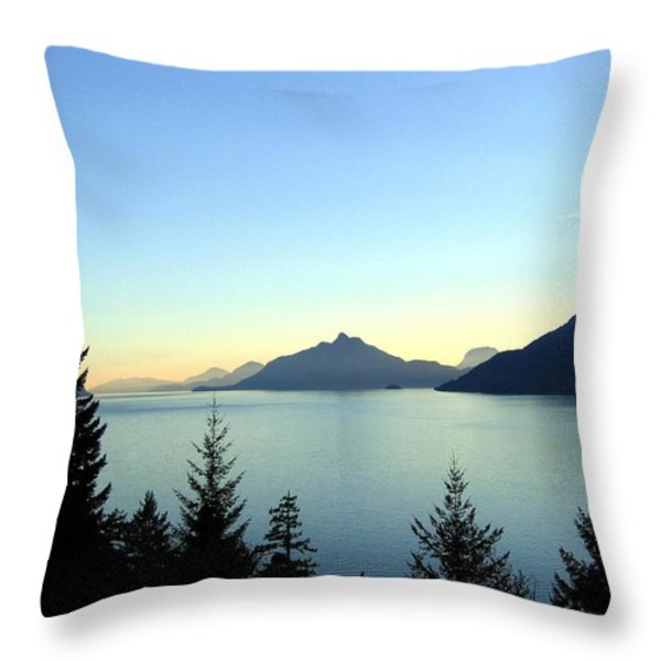 Captivating Howe Sound Throw Pillow by Will Borden