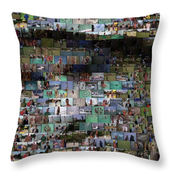 Carl Caddyshack Mosaic Throw Pillow by Paul Van Scott