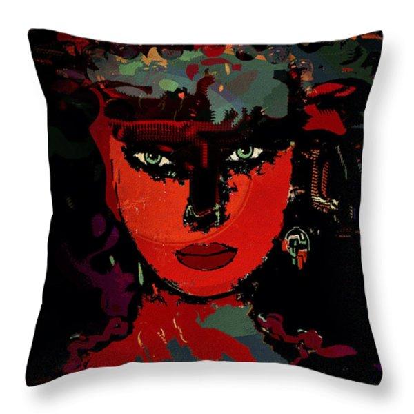 Carla Throw Pillow by Natalie Holland