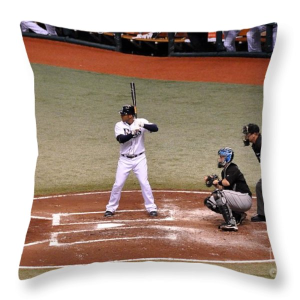 Carlos Pena Throw Pillow by John Black