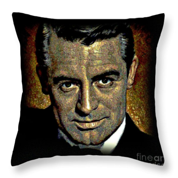 Cary Grant Throw Pillow by WBK