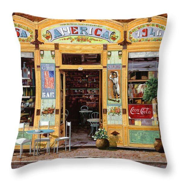 Casa America Throw Pillow by Guido Borelli