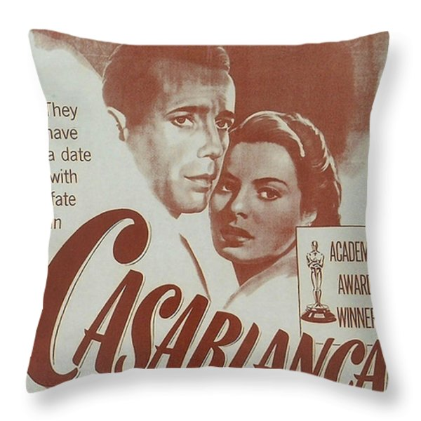Casablanca Throw Pillow by Nomad Art And  Design