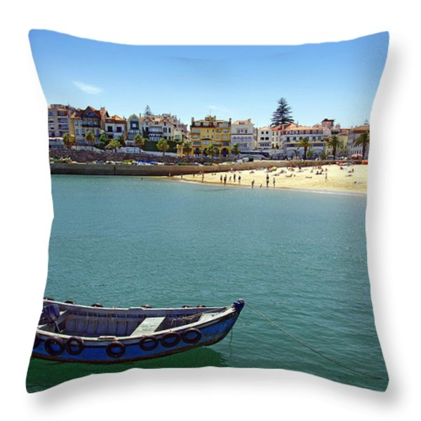 Cascais Throw Pillow by Carlos Caetano