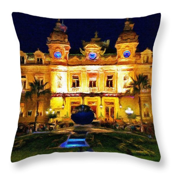 Casino Monte Carlo Throw Pillow by Jeff Kolker
