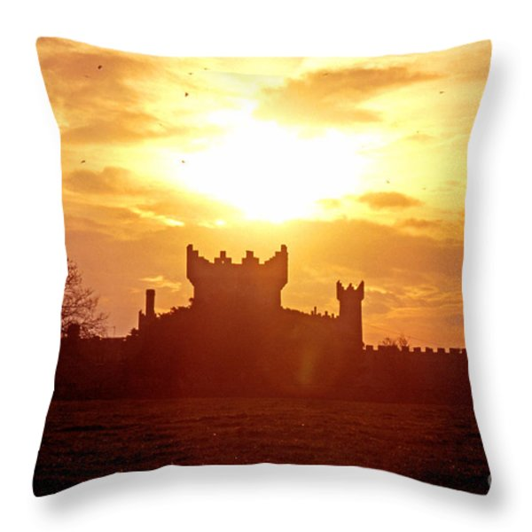 Castle Northern Ireland Throw Pillow by Thomas R Fletcher