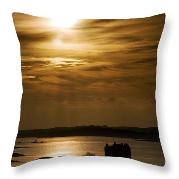 Castle Stalker At Sunset, Loch Laich Throw Pillow by John Short