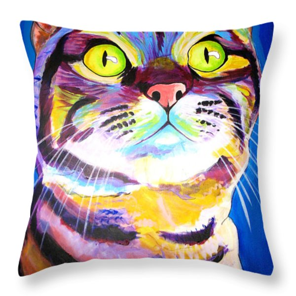 Cat - Akiko Throw Pillow by Alicia VanNoy Call