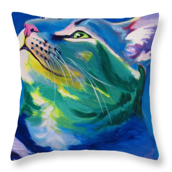 Cat - My Own Piece Of Sky Throw Pillow by Alicia VanNoy Call