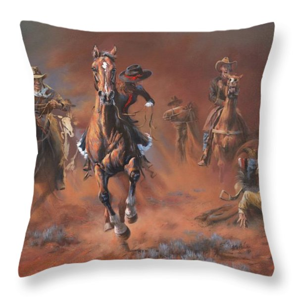 Catch Me If You Can Throw Pillow by Mia DeLode