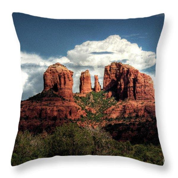 Cathedral Rock - Sedona  Throw Pillow by Saija  Lehtonen