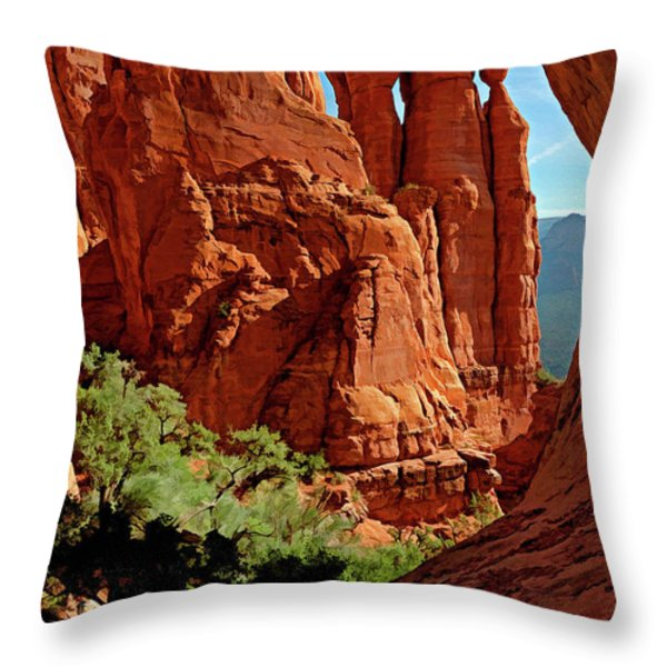 Cathedral Rock 06-124 Throw Pillow by Scott McAllister