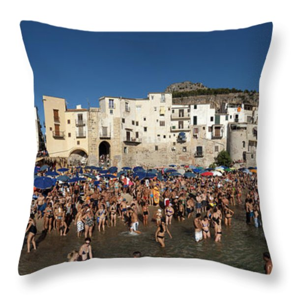 Cefalu Throw Pillow by Robert Lacy