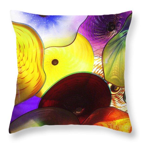 Celestial Glass 1 Throw Pillow by Xueling Zou