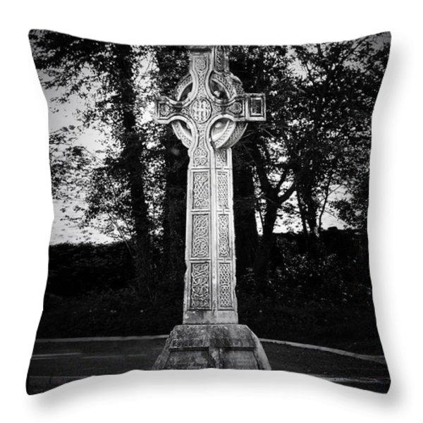 Celtic Cross In Killarney Ireland Throw Pillow by Teresa Mucha