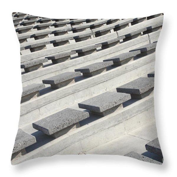 Cement Seats Throw Pillow by Gaspar Avila
