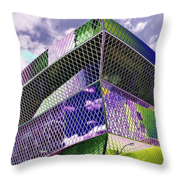 Central Library  Seattle Throw Pillow by Tim Allen